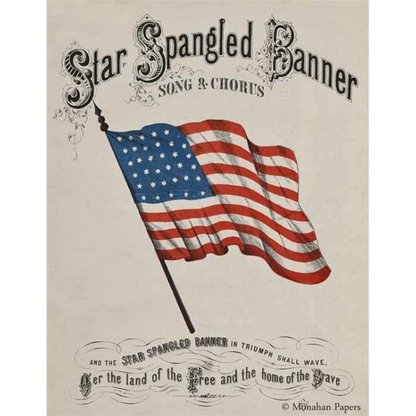 Star Spangled Banner Decoupage Paper