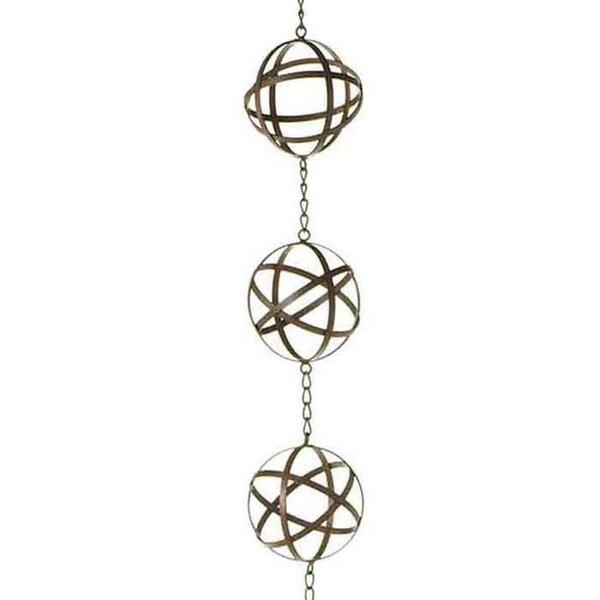 Armillary Spheres Rain Chain