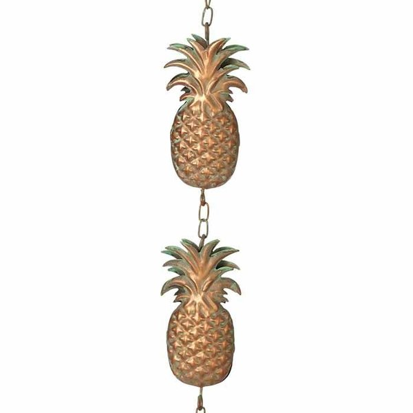 Gold Patina Pineapple Rain Chain