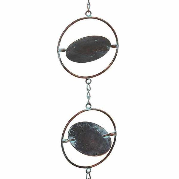 Round Kinetic Rain Chain w/ Bell