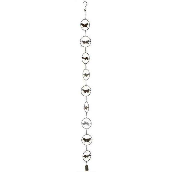 Kinetic Butterfly Rain Chain w/ Bell