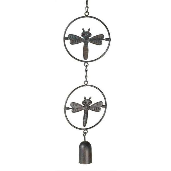 Spinning Dragonfly Rain Chain w/ Bell