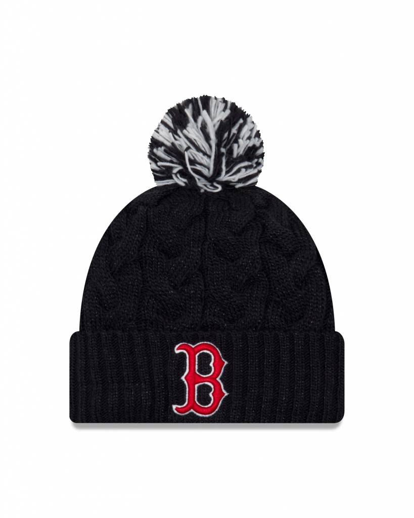 New Era Women Cozy Cable Knit Boston Red Sox - Baseball Town 76dd4423431
