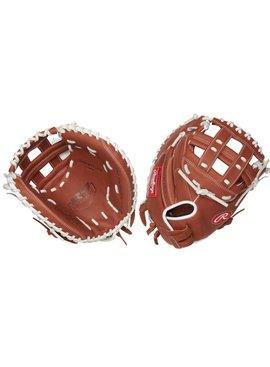 "RAWLINGS R9SBCM33-24DB R9 33"" Catcher's Softball Glove"