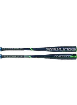 "RAWLINGS BB9T3 Threat Alloy 2 5/8""  BBCOR Baseball Bat (-3)"