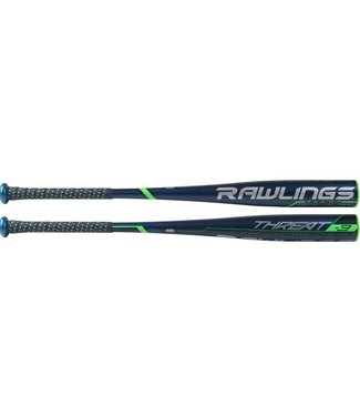 "RAWLINGS BB9T3 Threat Alloy 2 5/8""  BBCOR Baseball Bat (-3)"