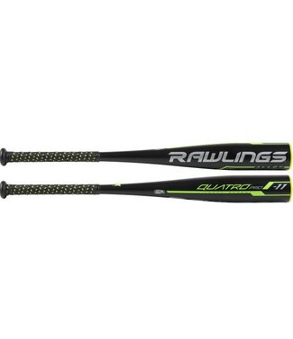 "RAWLINGS UT9Q11 Youth Quatro Pro Alloy 2 5/8"" USSSA Baseball Bat (-11) 27""/16oz"