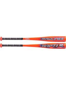 "RAWLINGS US8R8 Raptor Alloy 2 5/8"" USA Baseball Bat (-8)"