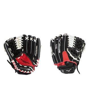 """MIZUNO Gant de Baseball Enfant Prospect Paraflex 11.5"""" Noir-Rouge GPT1150Y2"""