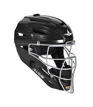 ALL STAR System 7 Umpire's Helmet Solid Black