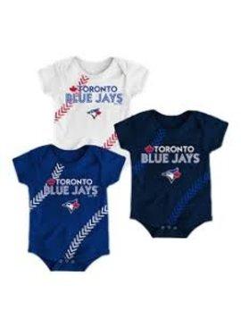 MAJESTIC Fan-Tastic Baseball Creepers 3-Pack Set Infant
