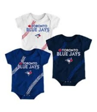 MAJESTIC Fan-Tastic Baseball Creepers 3-Pack Set Infant