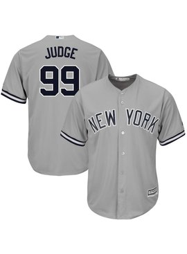 bddfa4ea MAJESTIC Aaron Judge New York Yankees Youth Replica Road Jersey