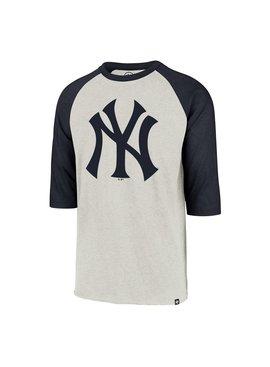 47BRAND Chandail à Manches Raglan Imprint Club des Yankees de New York