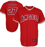 MAJESTIC Mike Trout Los Angeles Angels Youth Replica Road Jersey