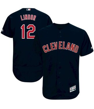 MAJESTIC Francisco Lindor Cleveland Indians Youth Replica Alt. Jersey