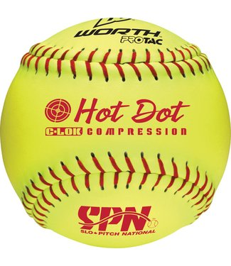 WORTH HOT DOT SPN Softball Ball (UN)