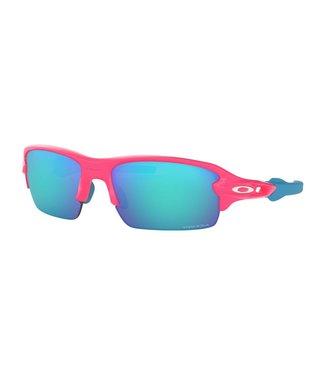 OAKLEY Flak XS Neon Pink W/ Prizm Sapphire (Youth Fit)