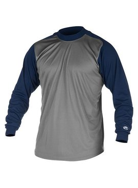 RAWLINGS Youth Mock Turtleneck Long Sleeve Shirt