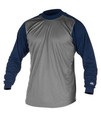 RAWLINGS Mock Turtleneck Long Sleeve Shirt