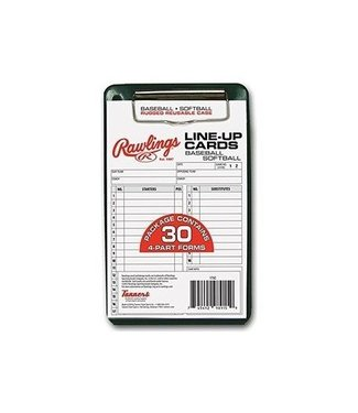 RAWLINGS Line up cards 30