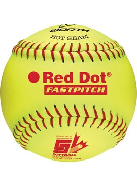 "WORTH RED DOT 12"" Softball Ball"