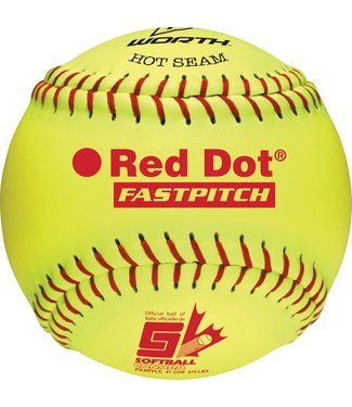 "WORTH Balle de Softball RED DOT 12"" (UN)"