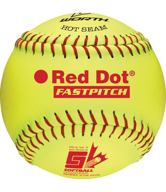 "WORTH RED DOT 11"" Softball Ball (UN)"