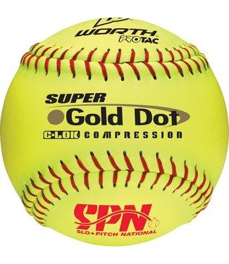 WORTH Balle de Softball Gold Dot SPN (UN)