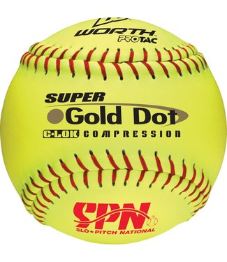 WORTH Gold Dot SPN Softball Ball (UN)