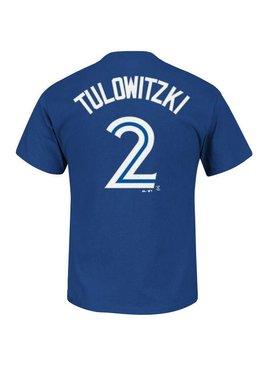 MAJESTIC TROY TULOWITZKI TORONTO BLUE JAYS Adult T-Shirt