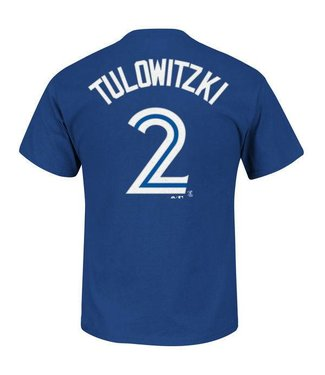MAJESTIC TROY TULOWITZKI TORONTO BLUE JAYS Adult T-Shirt