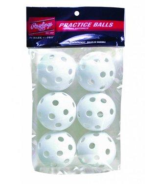 "RAWLINGS PLASTIC BASEBALL 9"" PACK OF 6"