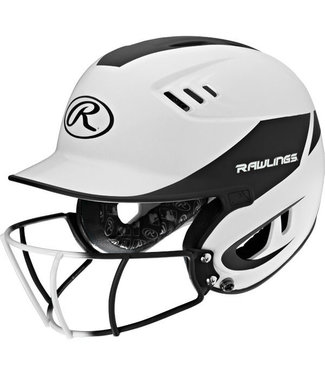 RAWLINGS R16H2FGJ Junior 2-Tone Batting Helmet With Faceguard
