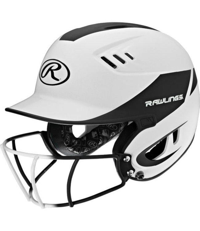 RAWLINGS R16H2FGJ Junior 2-Tone Batting Helmet With Faceguard
