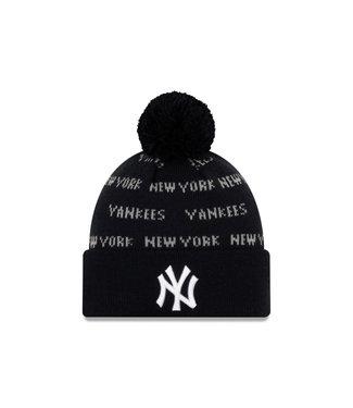 NEW ERA Tuque Junior Knit Repeat A3 des Yankees de New York