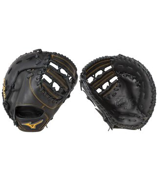 "MIZUNO GXF50PB2 Mvp Prime Black 12.5"" Firstbase Baseball Glove"