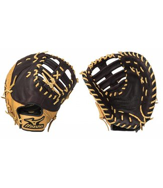 "MIZUNO GXF75 World Win Brown/Tan 12.5"" Firstbase Fastpitch Glove"