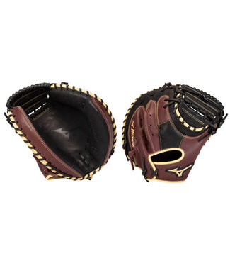 "MIZUNO GXC50PB3BC MVP Prime 34"" Black-Cherry Catcher's Baseball Glove"