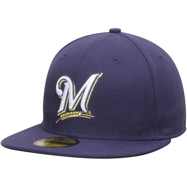 934b8693c51 Authentic Milwaukee Brewers Game Cap