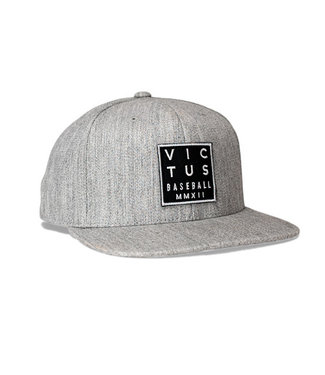 Victus Victus Square Emblem Gray Fitted Hat