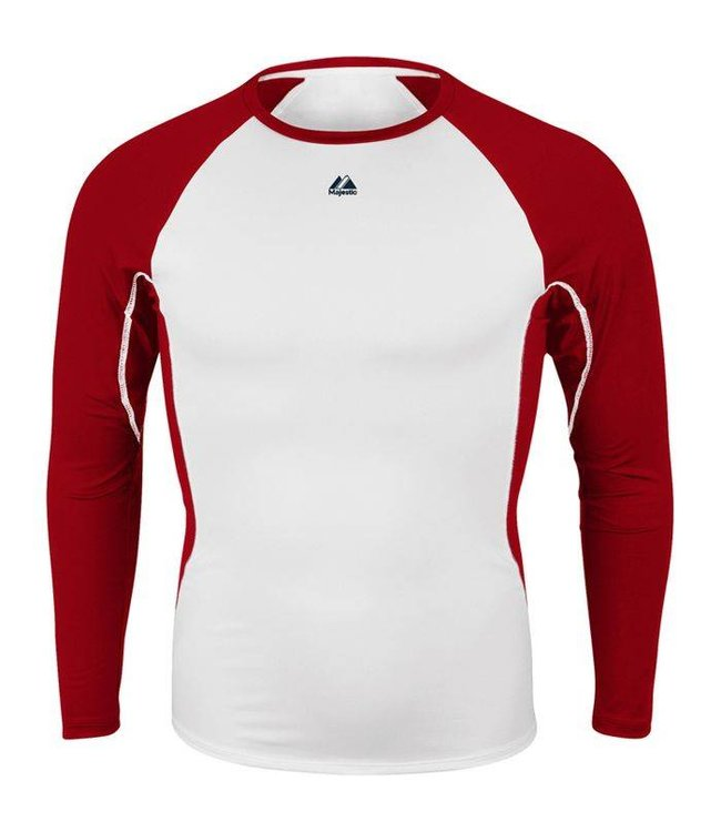 free shipping 732fb 71633 MAJESTIC Warrior Compression Long Sleeve Adult Shirt