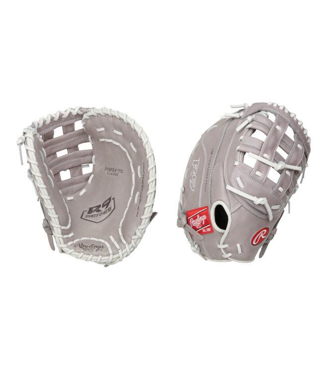 "RAWLINGS R9SBFBM-17G R9 12.5"" Firstbase Softball Glove"