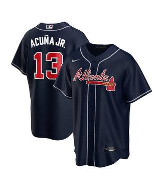 Nike Chemise Réplique Junior Ronald Acuna Jr. Navy des Braves d'Atlanta