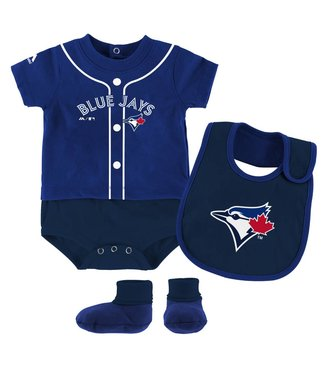 MAJESTIC Toronto blue jays 3 piece bodysuit set