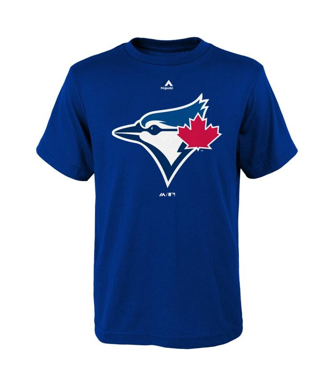 check out 9d348 bca2f MAJESTIC Toronto blue jays team logo kids tee