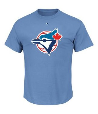 MAJESTIC Blue Jays Cooperstown Official Logo Shirt