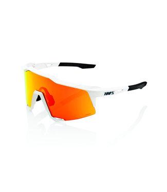 100% SpeedCraft Soft Tact Off White - Hiper Red Multilayer Mirror Lens