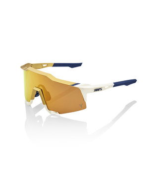 100% Speedcraft Tatis Jr White/Gold w/ Hiper Gold mirror Lens