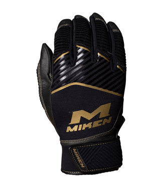 MIKEN Miken Gold Men's Batting Gloves
